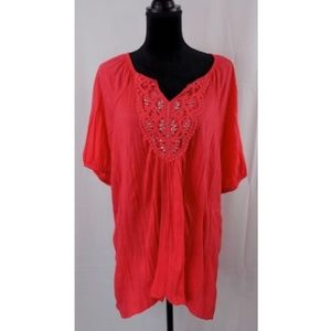 Inspire Womens Top Blouse Plus Size 3XL NWT